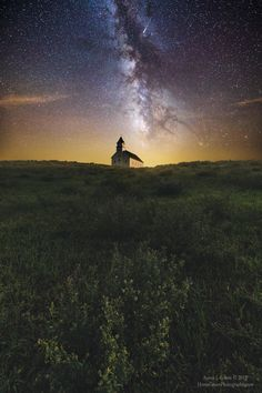 ~~Church on the Hill | Perseid Meteor shower astrophotography | by Aaron J. Groen~~