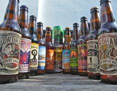 range of American craft beers