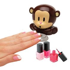 A monkey who'll dry off your nails for you.