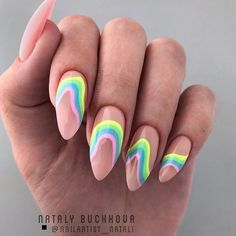 Funky Summer Nail Designs To Impress Your Friends ★You can find Funky nail art and more on our website.Funky Summer Nail Designs To Impress Your Friends ★ Cute Acrylic Nails, Cute Nails, Gel Nails, Coffin Nails, Nail Polish, Funky Nails, Ongles Funky, Pretty Nails, Bright Summer Acrylic Nails
