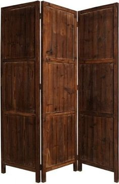 Screen Gems Ponderosa Rustic Solid Wood Room Divider traditional screens and wall dividers