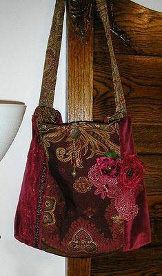 velvet bag, wine, merlot, red