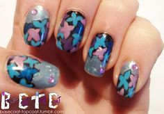 HYDRANGEA inspired nails! Sally Hansen - shell we...