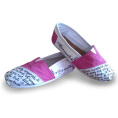 Custom Painted Love Never Fails Toms Shoes Bible by TomsByHeather, $100.00