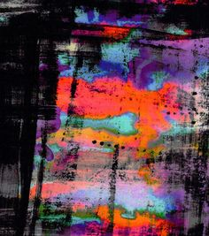 Nicole Miller Scuba Knit Fabric-Abstract Black