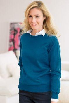 Le pull jersey fin laine mérinos. Fabrication Française