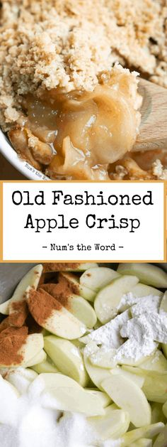 This simple apple crisp recipe is a favorite all year! Yummy sliced apples baked to perfection and topped with a oatmeal crisp topping! Make one now and freeze a second for later! Apple Crisp Without Oats, Quick Apple Crisp, Apple Crisp With Oatmeal, Apple Crisp Topping, Quick Oat Recipes, Apple Recipes Easy, Best Dessert Recipes, Sweets Recipes, Dinner Recipes