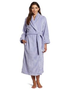 Amazon.com  Casual Moments Women s Shawl Collar Wrap Powder Robe Powder  Puff 8d92e9428