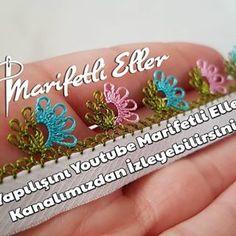 Yapımı Kolay Bir O Kadar Da Gösterişli Bu Çok Güzel Modelin Anlatımlı Yapılışını Youtube Marifetli Eller Kanalımızdan İzleyebilirsiniz.  #iğneoyası #needlelace #marifetlieller #çıtıpıtı #kolay Tatting, Diy And Crafts, Embroidery, Flowers, Youtube, Point Lace, Tejidos, Needle Tatting, Drawn Thread
