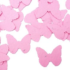 Hot Pink Butterfly Shaped Plantable Seed Paper Confetti from Daisy Giggles.