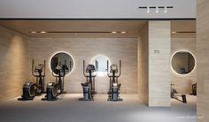 內構築 Gym Lighting, Gym Room At Home, Wellness Studio, Indoor Gym, Hotel Gym, Gym Interior, Gym Lockers, Home Gym Design, Basement Gym