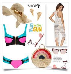 """Fun is the sun, shopaa!"" by samra-bv ❤ liked on Polyvore featuring Beach Bunny, Marc Jacobs, Vanessa Seward, Mercedes Castillo, Le Specs, beach, bikini, summerstyle and summervibes"