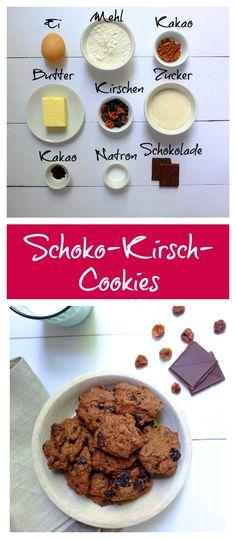 Kekse   Cookies   familientauglich   Schokolade   Kirsch   einfach