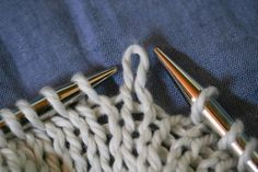 A loop pulled through a loop pulled through a loop. The loop shown is a knit stitch BECAUSE it was pulled from the back through to the front - see how it pokes forward/up.