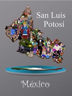 Mapa de san Luis Potosí [Diversidad Cultura]  México