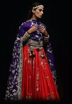 Purple Lehnga, Red Lehenga, Anarkali, Pakistani Dresses, Indian Dresses, Indian Outfits, Saree Color Combinations, Color Combos, Indian Wedding Wear