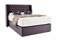 King size divan - Hypnos Farlington - Beds & Bedroom Furniture - Hypnos Opulent Cashmere - Bedroom Storage, Beds, Mattresses & Bed Frames