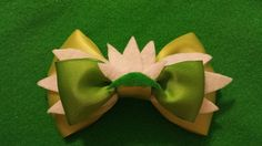 Frog Princess Inspired Hair Bow by DazzlinLew on Etsy