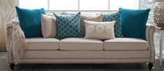The stunning appeal and combination of teal and cream accents - when paired with new or existing decor - make a big splash. Select from decorative pillows, area rugs, throws, poufs, and ottomans to add an extra layer of coziness with contrasting materials and a vibrant colorway to any room at home.