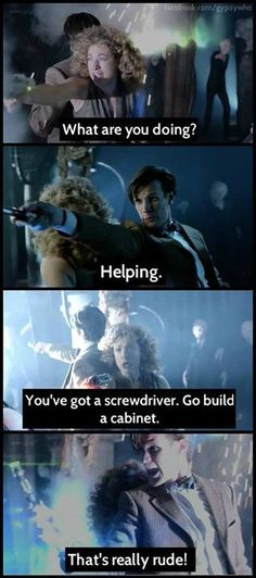 I love this, simply because of how excellent it was in the moment, but also because 9 and Jack Harkness had this conversation too lol