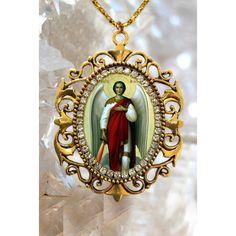 St michael medal necklace cadena san miguel arcangel pendant st michael archangel handmade necklace catholic christian religious 15 mozeypictures Gallery