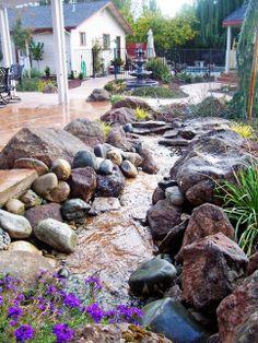 Waterfalls & Ponds backyard oasis stream