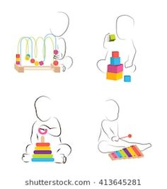 Find Children Play Educational Toys Baby Development stock images in HD and millions of other royalty-free stock photos, illustrations and vectors in the Shutterstock collection. Toys Logo, Craft Bags, Educational Toys For Kids, Baby Development, Kids Playing, Baby Toys, Playroom, Vector Free, Children Play