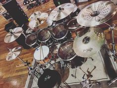 @Jaypostonesdrums set up m/
