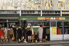 Buses in Basildon, 1964.