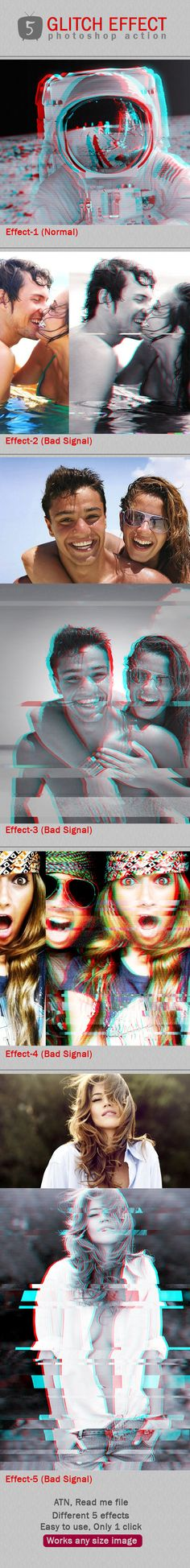 Glitch Photoshop Effects #photoeffect Download: http://graphicriver.net/item/glitch-ps-effects/12048608?ref=ksioks