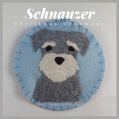 Christmas Ornaments--Schnauzer & Cocker Spaniel #Schnauzer
