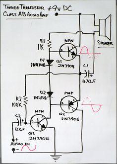 class ab amp schematic