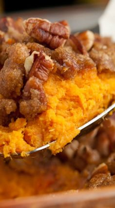 Sweet Potato Casserole with Brown Sugar Crumble-Side dish or dessert