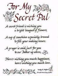 Secret pal verses poems christian friend plaques prayer great valentine ideas for secret pal negle Image collections