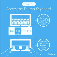 How to access the thumb keyboard on your Surface!