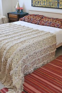 Moroccan wedding blanket. I sincerely hope you want one of these, because I love them!