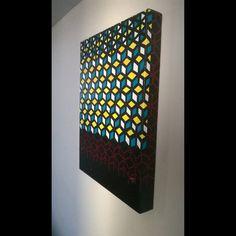 (VENDIDA) Lógica Acrílica - tela 60X30 arte - art - geométrico