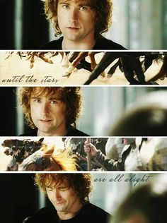 Pippin has ALWAYS been my favourite hobbit, so full of a hobbit's ordinary courage.