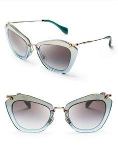 667716b0d7b Miu Miu Geometric Glitter Sunglasses Jewelry   Accessories - Sunglasses -  All Sunglasses - Bloomingdale s