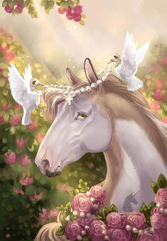 Horse Drawings, Animal Drawings, Cute Drawings, Unicornios Wallpaper, Unicorn Pictures, Horse Artwork, Deer Art, Mythical Creatures Art, Equine Art