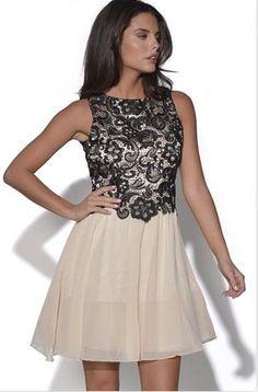 LITTLE MISTRESS LACE CHIFFON DRESS vía Vestry #dress #vestido #moda #fahion #fiesta