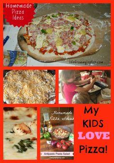 Homemade pizza kids
