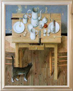 """Jean Josquin """"Kenne"""" Gregoire b: 12/13/51 Netherlands - fijnschilder"""