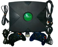 Original Xbox Game Console OEM Soft Mod with Controllers #Microsoft