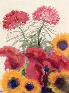lonequixote:Flowers~Emil Nolde