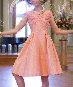 Look what I found on #zulily! Peach Lily Dress #zulilyfinds