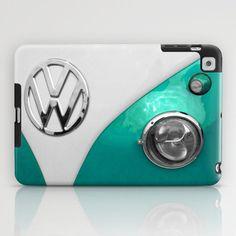 VW Split Screen in Teal iPad Case by Alice Gosling