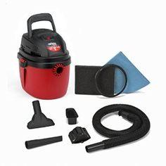 Amazon.com: Shop-Vac 2030100 1.5-Gallon 2.0 Peak HP Wet Dry Vacuum, Small, Red/Black: Home Improvement