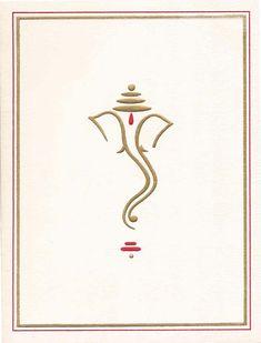 ganesh symbol for wedding cards gold - Google Search
