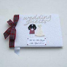 Large Personalised Guest Book - Royal Stuart Hunting Tartan £29.95